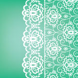 Lace fabric background. Template for wedding, invitation or greeting card with lace fabric background Stock Photography