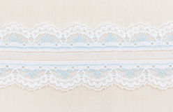 Lace Fabric frame Royalty Free Stock Image
