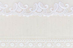 Lace Fabric frame Royalty Free Stock Photos