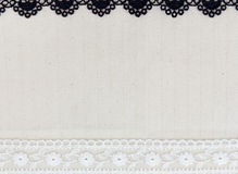 Lace Fabric frame Stock Photography