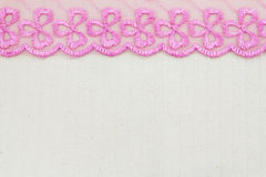 Lace Fabric frame Royalty Free Stock Photo