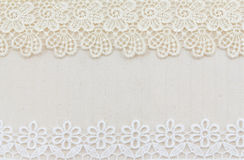 Lace Fabric frame Stock Photo