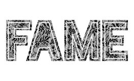Lace with ''FAME'' slogan Stock Images
