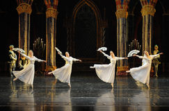 The lace fans-The prince of bar mitzvah-The third act-ballet Swan Lake. In December 20, 2014, Russias St Petersburg Ballet Theater in Jiangxi Nanchang performing Stock Image