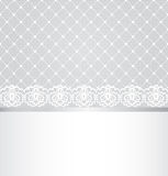 Lace floral border Stock Photos