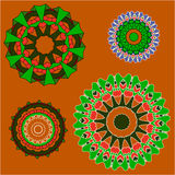 Lace  floral ethnic ornament. Lace  floral colorful ethnic ornament  fire  flower Stock Photo