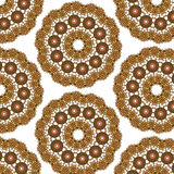 Lace  floral ethnic ornament seamless pattern Stock Photos