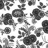 Lace floral flower. Lace floral print, seamless half drop repeat