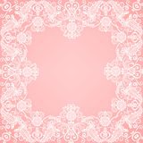 Lace floral frame Stock Photos