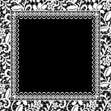 Lace floral frame Royalty Free Stock Photo
