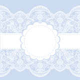 Lace floral frame Stock Image