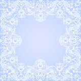 Lace floral frame Stock Photo