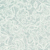 Lace floral pattern. Light contour backdrop Stock Photography