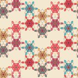 Lace floral seamless pattern in tender pink colors Stock Photo