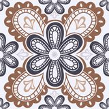 Lace floral seamless pattern Royalty Free Stock Photos
