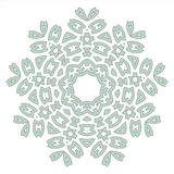 Lace floral white ethnic ornament kaleidoscope stock illustration