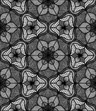 Lace Flower Pattern Black White Stock Image