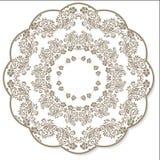 Lace flower round napkin Royalty Free Stock Photo