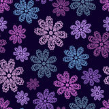Lace flowers seamless pattern Royalty Free Stock Images