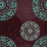 Lace folkloric seamless pattern Royalty Free Stock Photography