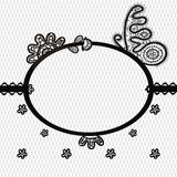 Lace frame with butterfly Stock Images