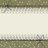 Lace frame with cute pattern. Can be used for wedding invitation, greeting card , baby shower and more creative designs vector illustration