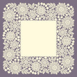 Lace Frame. Doily. Stock Photo