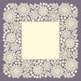 Lace Frame. Doily. Square Frame. Floral Pattern. White Lace. Doily stock illustration