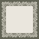 Lace Frame. Doily. Royalty Free Stock Photo