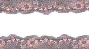 Lace frame isolated on white Royalty Free Stock Image