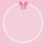Lace frame on pink background Stock Image