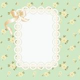 Lace frame with ribbons Royalty Free Stock Image