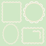 Lace frame Royalty Free Stock Images