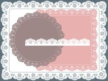 Lace frame. Set of round, square lace frame Royalty Free Stock Photo