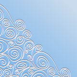 Lace frame with spirals pattern Stock Photo