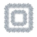 Lace frame vector decorative design element background hand drawn square royalty free illustration