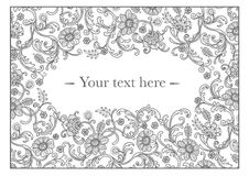Lace frame wedding invitation. Lace frame graphic vector wedding invitation Stock Images