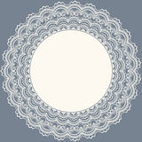 Lace frame. Wedding invitation. Lace frame with place for text. Wedding invitation.Vector illustration Stock Images