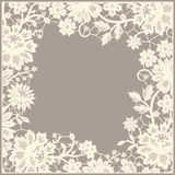 Lace frame. White Lace frame. Foursquare Greeting Card Stock Photography
