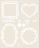 Lace frames Royalty Free Stock Photography
