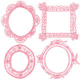 Lace frames and antique frames. Set of antique lace frames Royalty Free Stock Photography