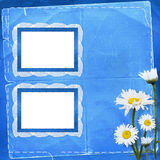 Lace frames with bunch of flower Stock Images