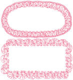 Lace frames. Royalty Free Stock Photography