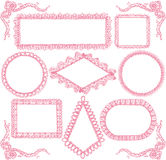 Lace frames. Royalty Free Stock Photos