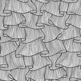 Lace and frills hand drawn seamless pattern.  stock illustration