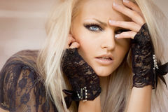 Lace Gloves Stock Images