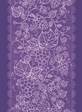 Lace grape vines vertical seamless pattern Stock Photography