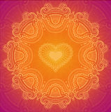 Lace greeting card for Valentine day Stock Images