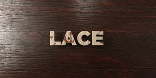 Lace - grungy wooden headline on Maple  - 3D rendered royalty free stock image Royalty Free Stock Photo