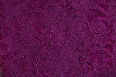 Lace of guipure fabric with floral pattern Royalty Free Stock Images